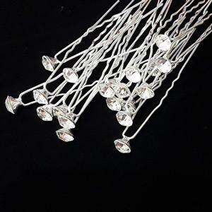 Crystal Bridal / Prom Hair Pins- Set 20